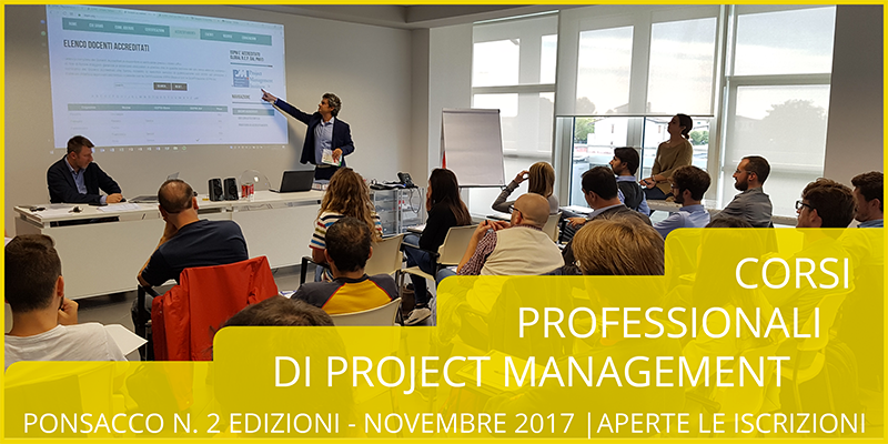 Corso professionale di Project Management a Ponsacco