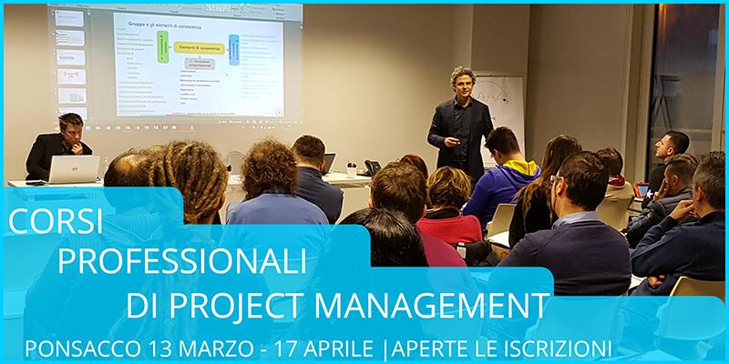 Corsi di Project Management 2018   13 marzo-17 aprile